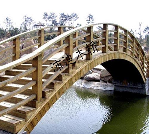 防腐木木桥的结构件主要以承压和抗剪传力