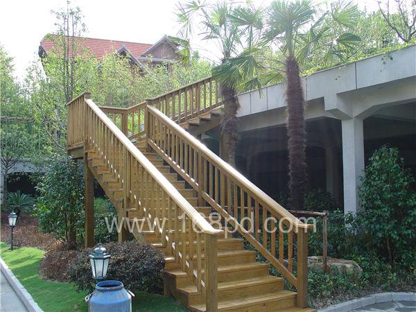 景观防腐木楼梯设计图展示
