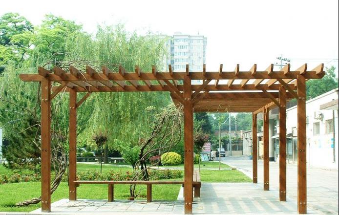 户外防腐木花架的用途介绍