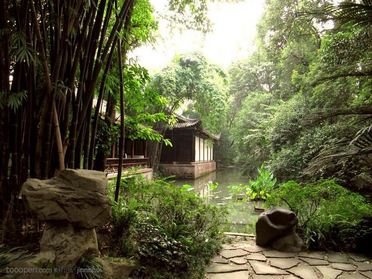 现代园林木结构建筑在结构